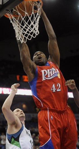 76ers Timberwolves Basketball