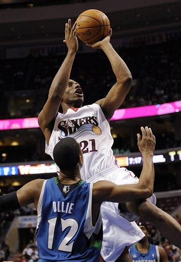 Timberwolves 76ers Basketball